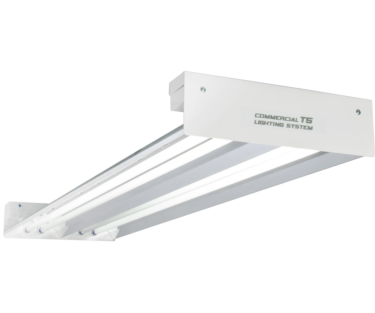 Quantum T5 216W 4' 4-Tube Fixture - No Lamps