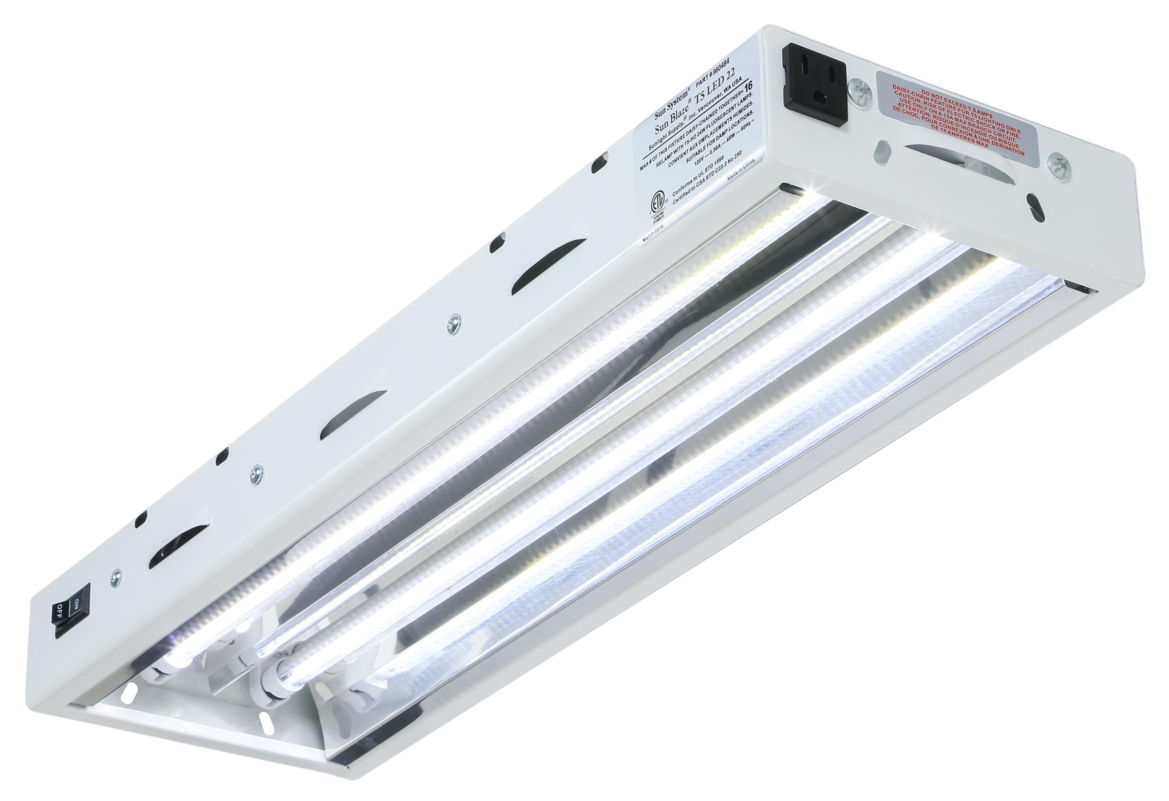 lightbox  sc 1 st  Goldleaf Hydroponics & Sun Blaze T5 LED 22 - 2 ft 2 Lamp 120 Volt - Goldleaf Hydro
