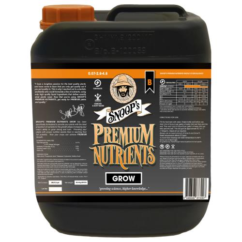 Snoop's Premium Nutrients Grow Circulating A 3.9 - 0 - 0 & B 0.07 - 2.8 - 4.8