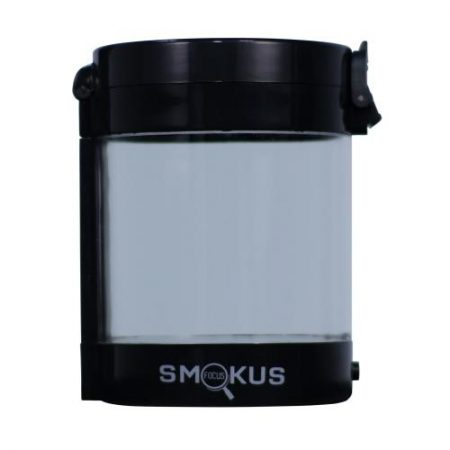 Smokus Focus Middleman Display Container w/ LED and Dual Magnification - Black