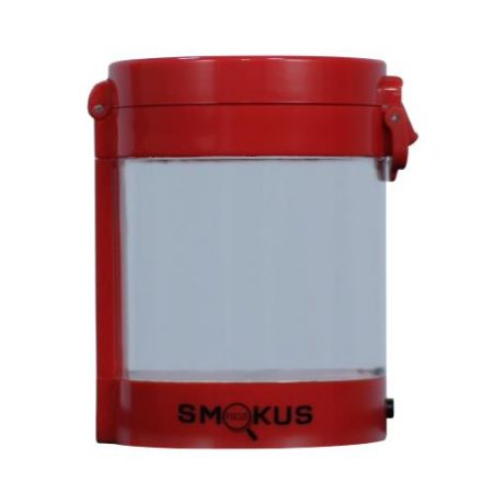 Smokus Focus Middleman Display Container w/ LED and Dual Magnification - Red