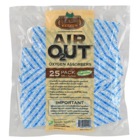 Harvest Keeper Air Out Oxygen Absorber 500 cc (25/Bag)