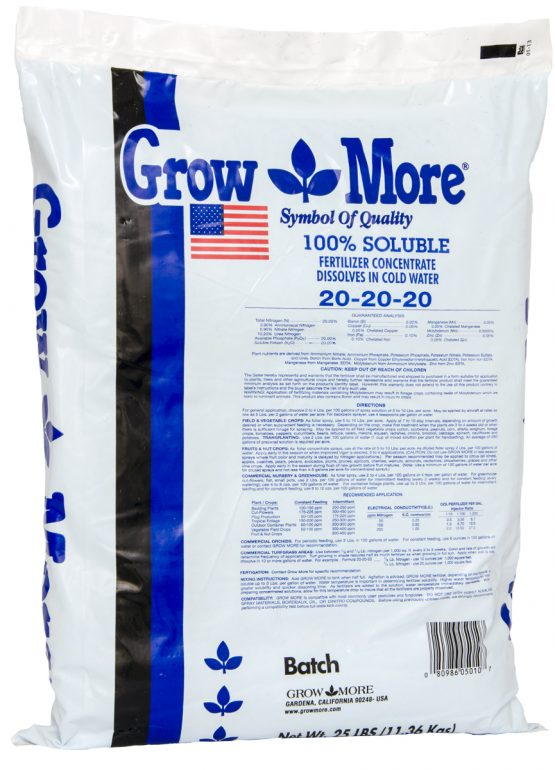 Grow More Water Soluble 20-20-20