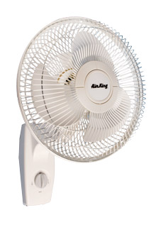 "Air King 12"" Oscillating Wall Mount Fan"