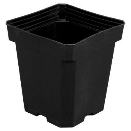 Gro Pro Black Plastic Pot 6 in x 6 in x 7 in