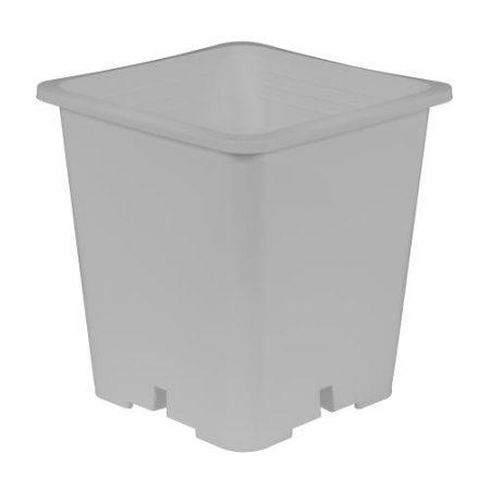 Gro Pro Premium White Square Pot 9 in x 9 in 10.5 in