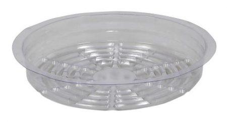 Gro Pro Premium Clear Plastic Saucer 8 in