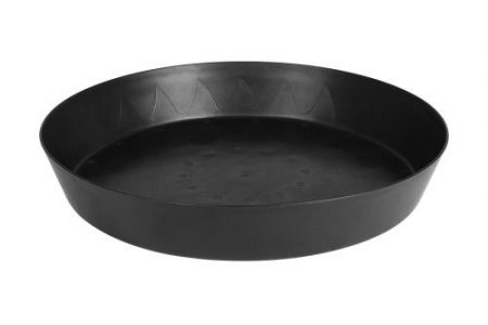 Gro Pro Heavy Duty Black Saucer  w/ Tall Sides - 20 in