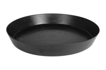 Gro Pro Heavy Duty Black Saucer w/ Tall Sides - 25 in