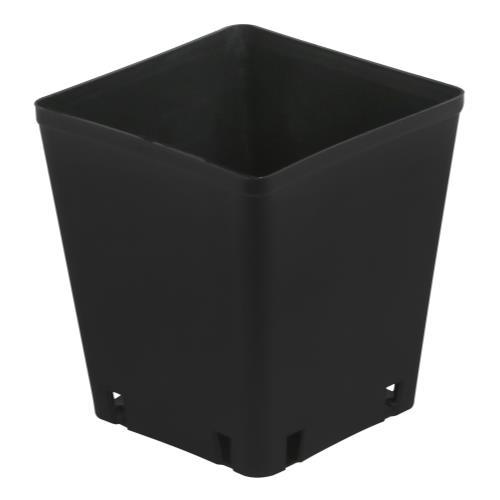 Gro Pro Black Plastic Square Pot 5 x 5 x 5.25 in
