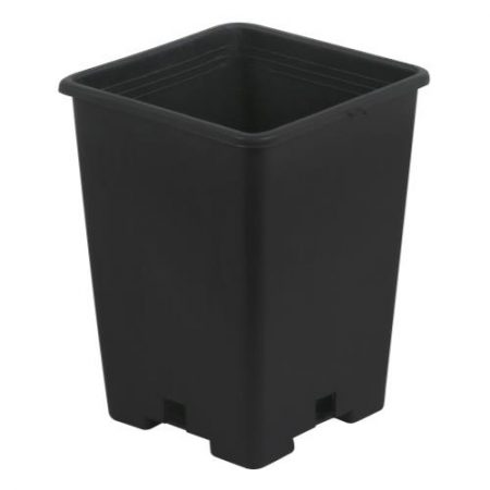 Gro Pro Black Plastic Square Pot 5 x 5 x 7 in