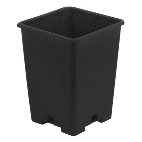 Gro Pro Black Plastic Square Pot 5 x 5 x 7 in