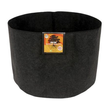 Gro Pro Essential Round Fabric Pot - Black 45 Gallon