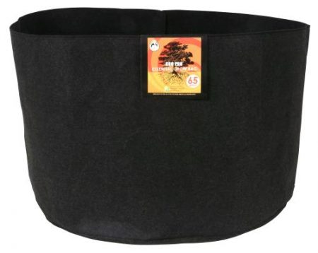 Gro Pro Essential Round Fabric Pot - Black 65 Gallon