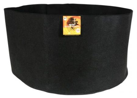 Gro Pro Essential Round Fabric Pot - Black 150 Gallon