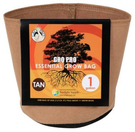 Gro Pro Essential Round Fabric Pot - Tan 1 Gallon