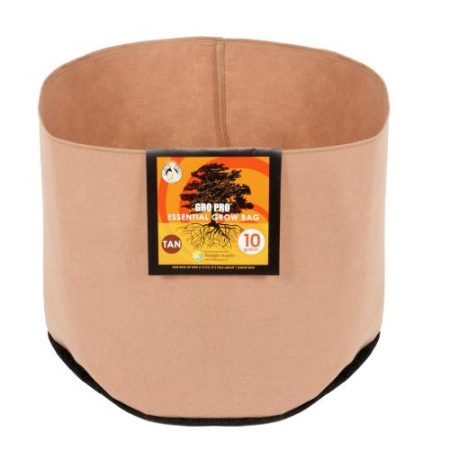 Gro Pro Essential Round Fabric Pot - Tan 10 Gallon