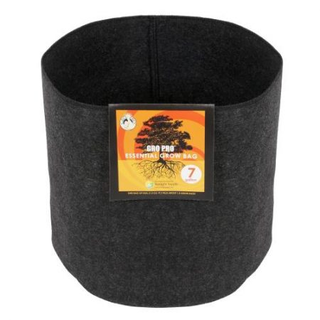 Gro Pro Essential Round Fabric Pot - Black 7 Gallon
