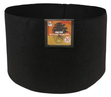 Gro Pro Essential Round Fabric Pot - Black 30 Gallon