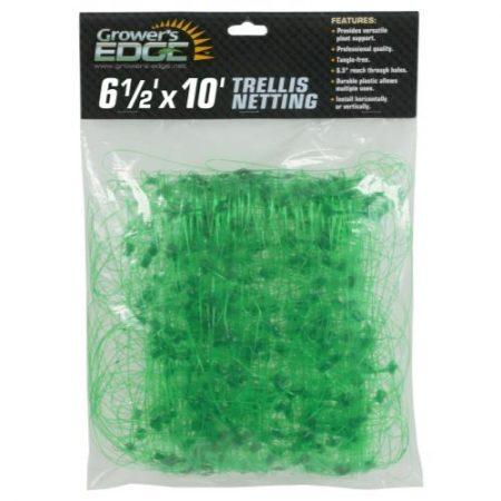 Grower's Edge Green Trellis Netting 6.5 ft x 10 ft
