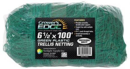 Grower's Edge Green Trellis Netting 6.5 ft x 100 ft
