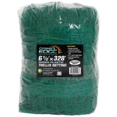 Grower's Edge Green Trellis Netting 6.5 ft x 328 ft