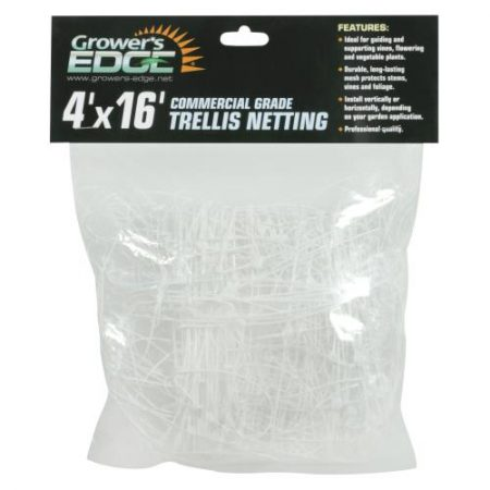 Grower's Edge Commercial Grade Trellis Netting 4 ft x 16 ft