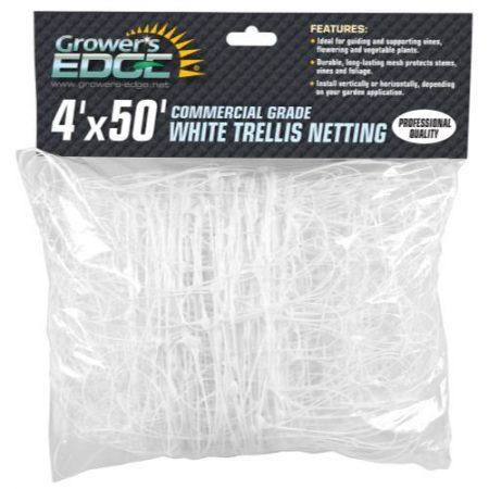 Grower's Edge Commercial Grade Trellis Netting 4 ft x 50 ft