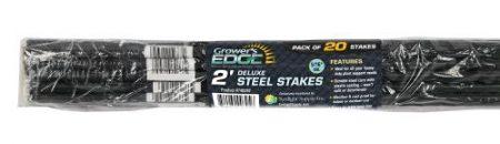 Grower's Edge Deluxe Steel Stake 5/16 in Diameter 2 ft (20/Bag)