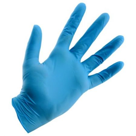 Grower's Edge Light Blue Powder Free Nitrile Gloves 4 mil - Large (100/Box)